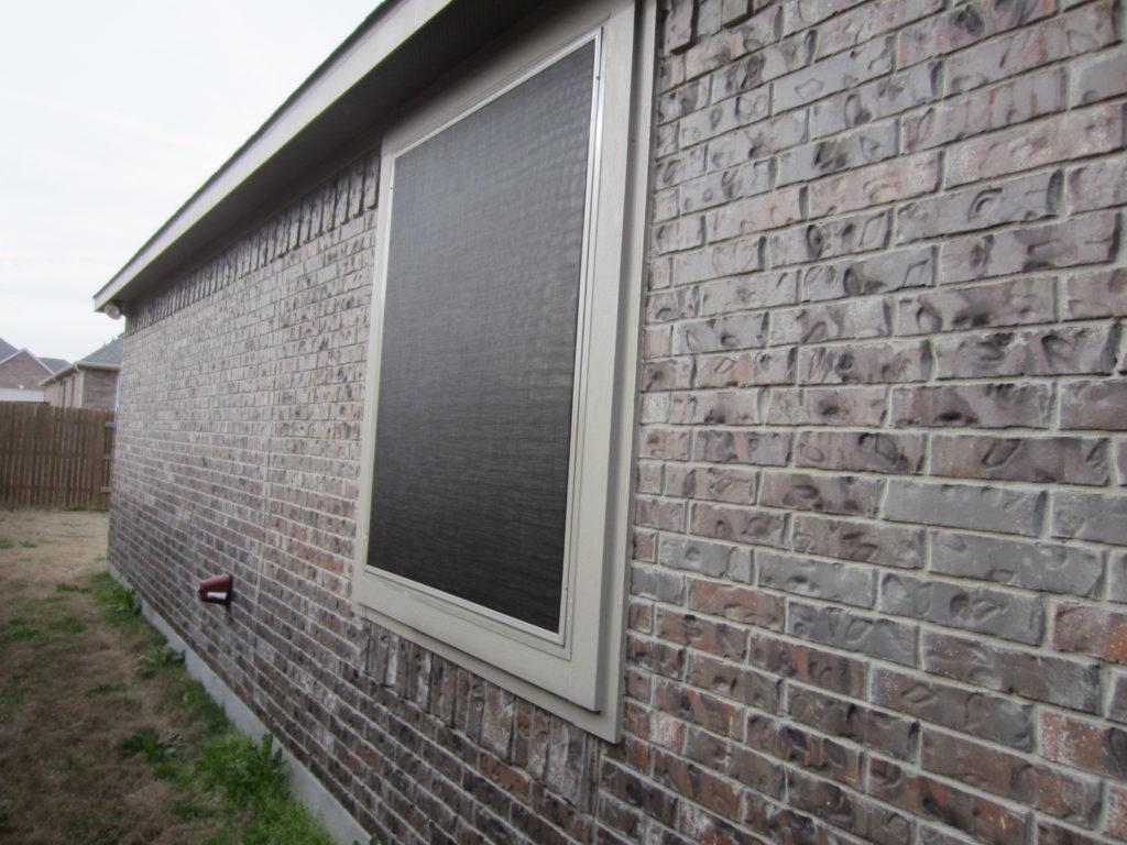 Another vinyl window surface mount installation.