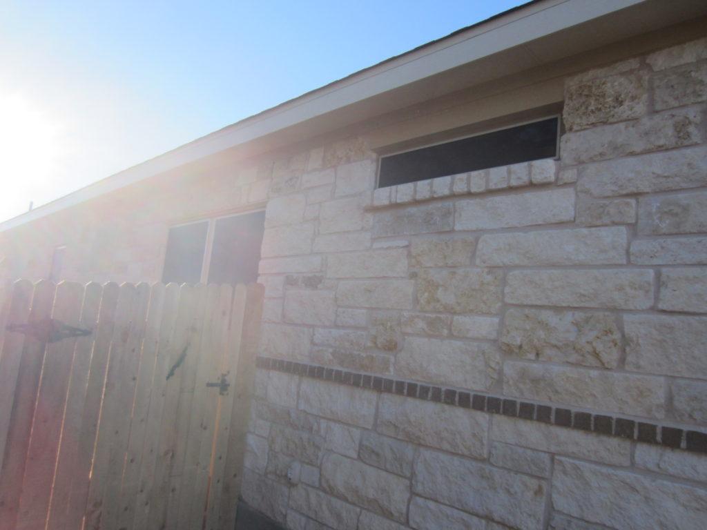 Left of home: (3) 80% solar window screens